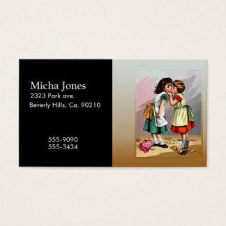 Vintage Little Girls Doll Quarrel Business Card