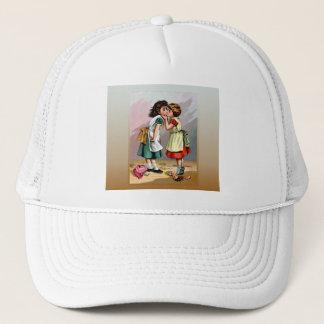 Vintage Little Girls Doll Quarrel Trucker Hat