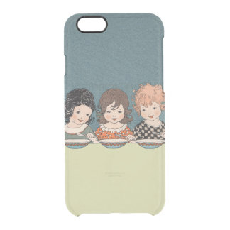 Vintage Little Girls Eating Soup Three Sisters Clear iPhone 6/6S Case