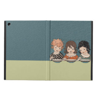 Vintage Little Girls Eating Soup Three Sisters iPad Air Cases