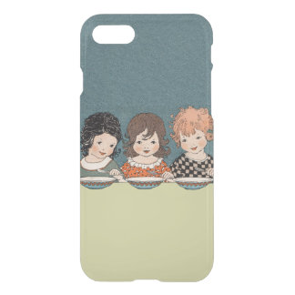 Vintage Little Girls Eating Soup Three Sisters iPhone 8/7 Case
