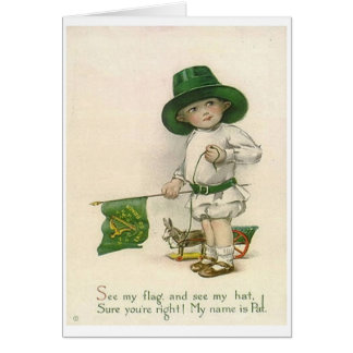 Vintage Little Irish Boy St. Patrick's Day Card