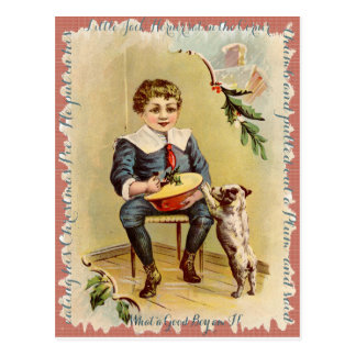 "VINTAGE LITTLE JACK HORNER ""MERRY CHRISTMAS PIE"" POSTCARD"