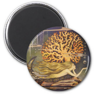 Vintage Little Mermaid Ocean Coral Fairy Tale Magnets
