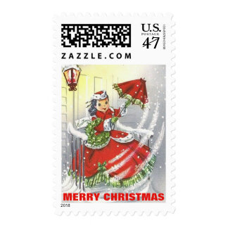 Vintage Little Miss Christmas Postage