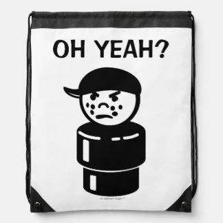 Vintage Little People Tough Kid Bully - Oh Yeah? Cinch Bags