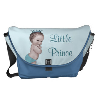 Vintage Little Prince Baby Blue Diaper Bag