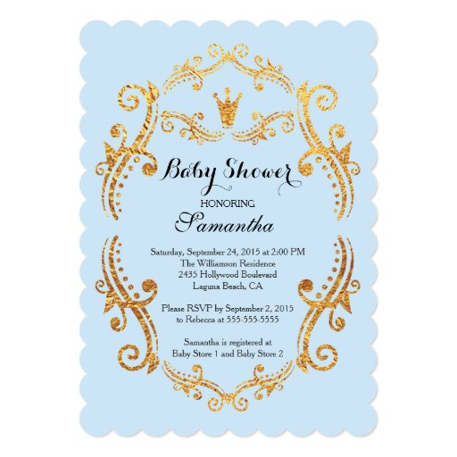 vintage little prince baby shower invitation zazzle