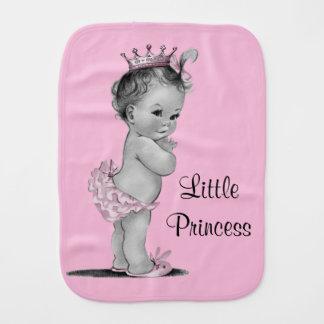 Vintage Little Princess Baby Pink Baby Burp Cloth