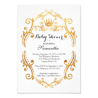 Vintage Little Princess Baby Shower Invitation