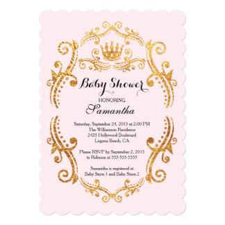 Good Vintage Little Princess Baby Shower Invitation