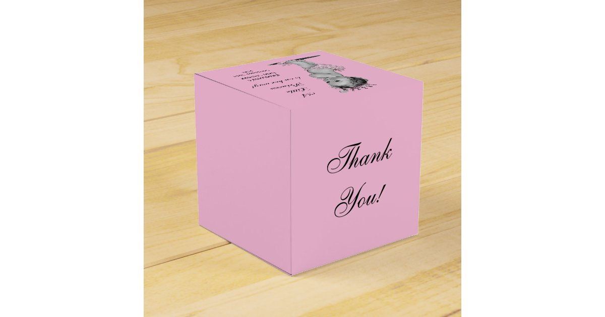 Baby Shower Thank You Gift Boxes : Vintage little princess baby shower thank you favor box