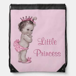 Vintage Little Princess Pink Baby Diaper Bag Drawstring Bags