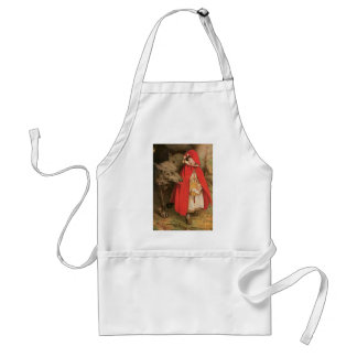 Vintage Little Red Riding Hood and Big Bad Wolf Adult Apron