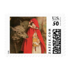 Vintage Little Red Riding Hood and Big Bad Wolf Postage