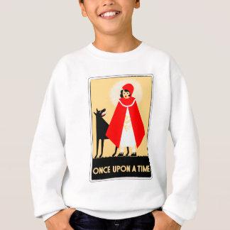Vintage Little Red Riding Hood And Big Bad Wolf Sweatshirt