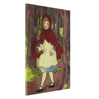 Vintage Little Red Riding hood book art Canvas Print