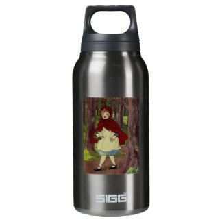 Vintage Little Red Riding hood book art Insulated Water Bottle