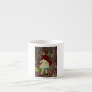 Vintage Little Red Riding hood book art 6 Oz Ceramic Espresso Cup