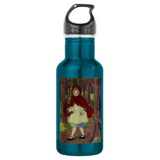 Vintage Little Red Riding hood book art Water Bottle
