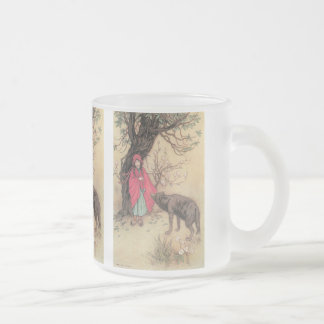 Vintage Little Red Riding Hood by Warwick Goble Frosted Glass Coffee Mug