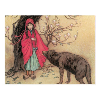Vintage Little Red Riding Hood by Warwick Goble Postcard
