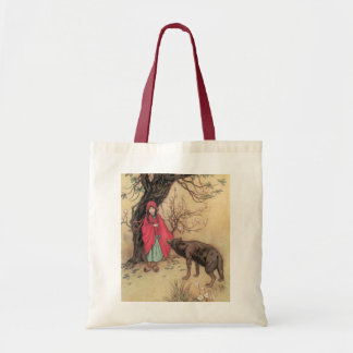 Vintage Little Red Riding Hood by Warwick Goble Tote Bag