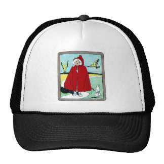 Vintage Little Red Riding Hood Trucker Hat