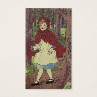 Vintage Little Red Riding hood Illustration Business Card