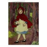 Vintage Little Red Riding hood Illustration Greeting Card
