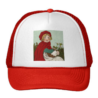 Vintage Little Red Riding Hood Illustration Trucker Hat