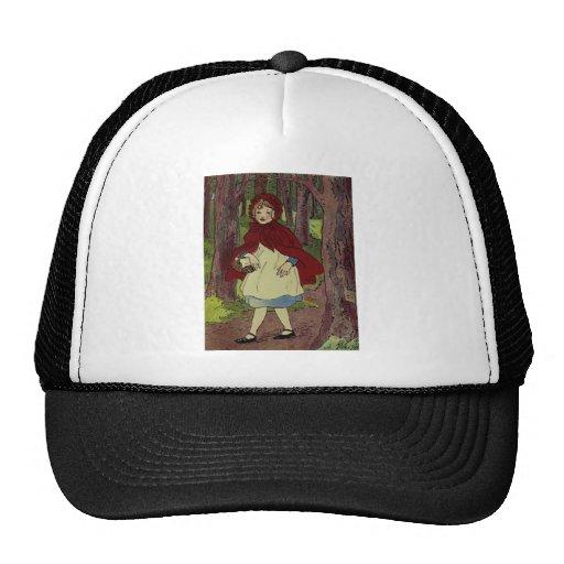 Vintage Little Red Riding hood Illustration Trucker Hat