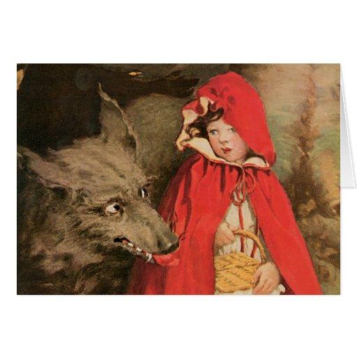 Vintage Little Red Riding Hood Jessie Wilcox Smith Card