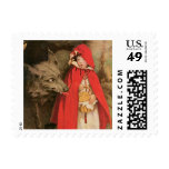 Vintage Little Red Riding Hood Jessie Wilcox Smith Stamps