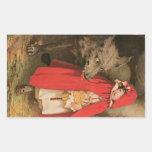 Vintage Little Red Riding Hood Jessie Wilcox Smith Sticker