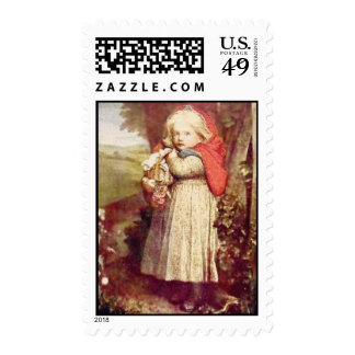 Vintage Little Red Riding Hood Postage