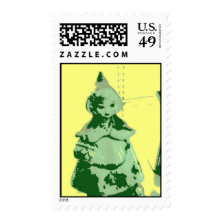 Vintage Little Red Riding Hood Postage Stamps