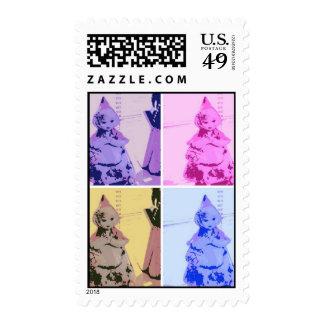 Vintage Little Red Riding Hood Stamp