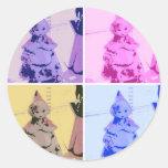 Vintage Little Red Riding Hood Round Sticker
