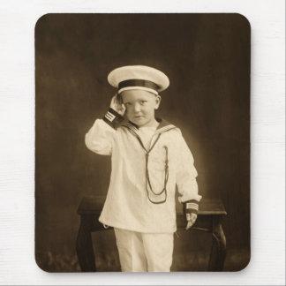 Vintage little sailor mousepads