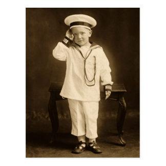 Vintage little sailor postcard