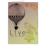 Vintage Live in the Moment Card
