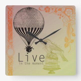Vintage Live in the Moment Wallclock