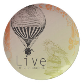 Vintage Live in the Moment Dinner Plate