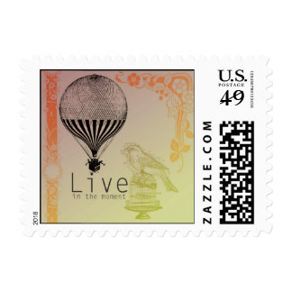 Vintage Live in the Moment Postage