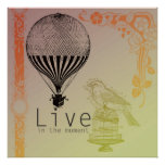 Vintage Live in the Moment Print
