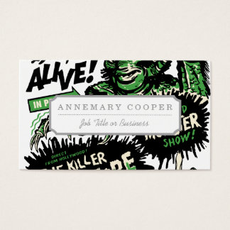 Vintage Live Monster Hollywood Show Business Card