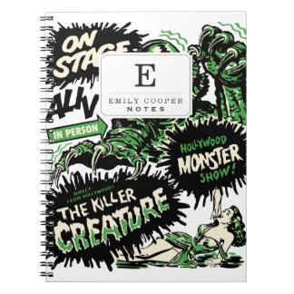 Vintage Live Monster Hollywood Show Notebook
