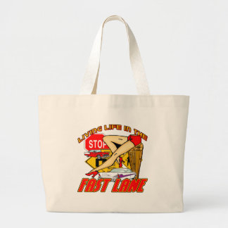Vintage Living Life In The Fast Lane Large Tote Bag