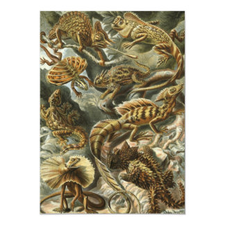 Vintage Lizard Animals by Ernst Haeckel Invitation